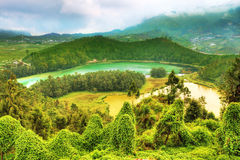 Telaga Warna and Cisaat Royalty Free Stock Photos