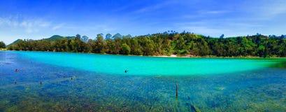 Telaga Warna, Dieng, Indonezja Obrazy Stock