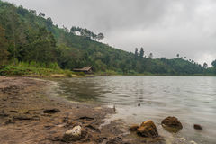 Telaga Warna at Dieng Wonosobo. House at Telaga Warna in Dieng Wonosobo Stock Photography