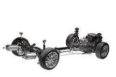 Telaio dell'automobile con il motore. Fotografia Stock Libera da Diritti