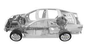 Telaio dell'automobile con il motore Immagini Stock Libere da Diritti