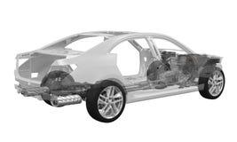 Telaio dell'automobile con il motore Fotografia Stock Libera da Diritti