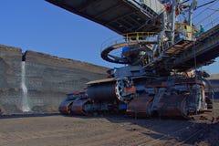 Telaio della macchina del caricatore del carbone immagini stock libere da diritti