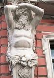 Telamon på ett hus i St Petersburg Fotografering för Bildbyråer