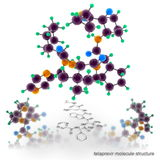 Telaprevir molecule structure Royalty Free Stock Photography