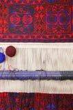 Telar con la alfombra Imagen de archivo