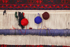 Telar de alfombra Imagenes de archivo