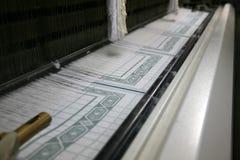 Telar de trabajo del algodón Imágenes de archivo libres de regalías