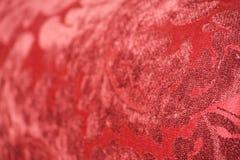 Telar jacquar rojo del terciopelo Imagen de archivo