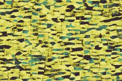 Telas africanas amarillas con los modelos y las texturas coloreadas ilustración del vector