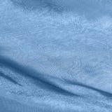 Telas azules con moaré Foto de archivo