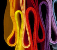 Telas coloreadas multi del fieltro Fotografía de archivo