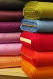 Telas coloridas Fotografía de archivo libre de regalías