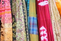 Telas coloridas Imagen de archivo