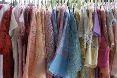 Telas coloridas de Tailândia Foto de Stock Royalty Free