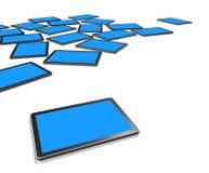 telas da tevê 3D, PC digital da tabuleta Fotografia de Stock