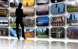 Telas da tevê Imagem de Stock