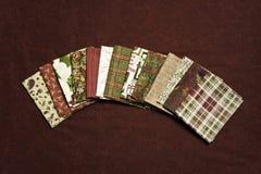 Telas de la Navidad Fotos de archivo