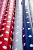 Telas de oleado com testes padrões brilhantes Imagens de Stock