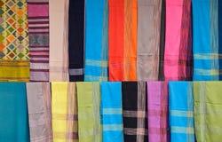 Telas de seda hermosas Imágenes de archivo libres de regalías