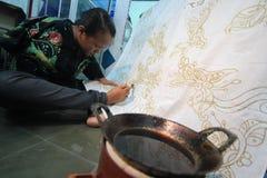 Telas del batik de la artesanía Foto de archivo
