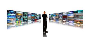 Telas dos media Foto de Stock