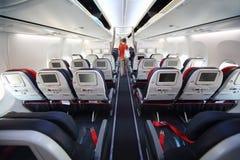Telas na parte de trás dos assentos e da parte traseira macios do passageiro Fotografia de Stock Royalty Free