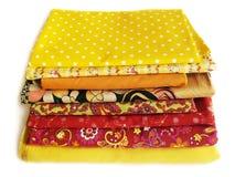 Telas para el remiendo y coser Foto de archivo libre de regalías