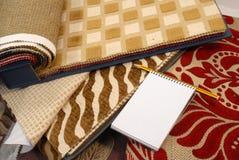 Telas para la decoración casera Foto de archivo libre de regalías