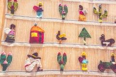 Telas tradicionales de Bernal Queretaro México Foto de archivo