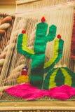 Telas tradicionales de Bernal Queretaro México Fotografía de archivo libre de regalías