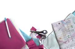 Telas y accesorios para adaptar Imagen de archivo libre de regalías