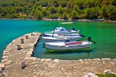 Telascica bay on Dugi Otok island boats Royalty Free Stock Photography