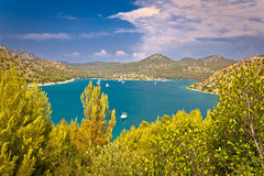 Telascica bay yachting and sailing destination Royalty Free Stock Images