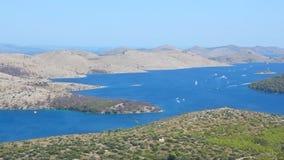 Telascica Mediterranean Coastline stock video footage
