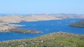 Telascica Mediterranean Coastline stock video