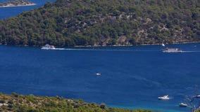Telascica Mediterranean Coastline stock footage