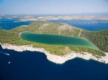 Telascica nature park and Slano lake in Croatia Stock Images