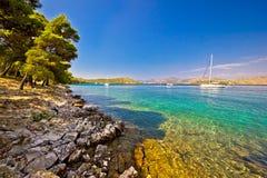 Telascicabaai op het eiland van Dugi Otok Royalty-vrije Stock Afbeelding