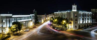Telavi in night. View to roundbound in Telavi, Georgia Royalty Free Stock Photography
