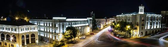 Telavi in night. View to roundbound in Telavi, Georgia Stock Photo