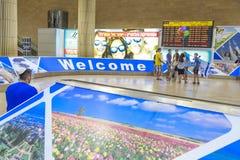 Telavive - airoport - 21 de julho - Israel, 2014 Imagem de Stock Royalty Free