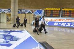 Telavive - airoport - 21 de julho - Israel, 2014 Fotografia de Stock