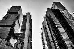 Telavive - 9 de dezembro de 2016: Construções altas no CEN da cidade de Tel Aviv Fotografia de Stock Royalty Free