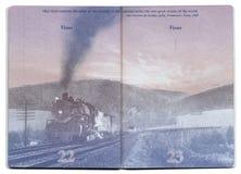 Página vazia do passaporte dos EUA Fotos de Stock