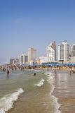 Verão na praia em Telavive Fotos de Stock Royalty Free