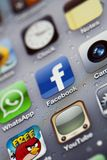 IPhone 4 - Macro de Apps Fotos de Stock Royalty Free