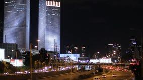 Telavive na noite video estoque