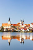 Telc. Town of Telc in Czech Republic Stock Photography