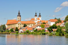 Telc. Beautiful town in Czech Republic Royalty Free Stock Images